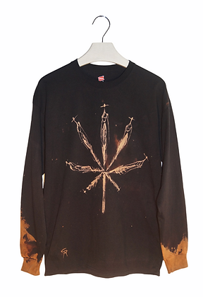 "S - ""The Pot People"" Bleached Cotton Long Sleeve Shirt"