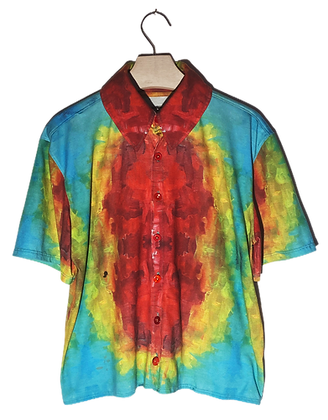 S - Holy Rainbow Button-Up Blouse