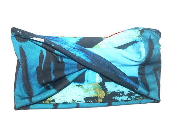 The Cool People (Electric Blue) x Earth & Sky Reversible Head Wrap