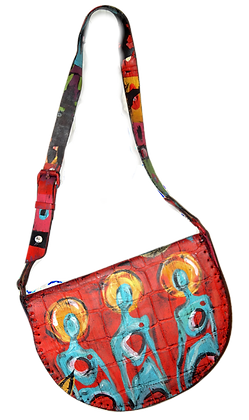 Trippy Cool People Leather Bag