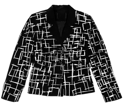 Squared Painted Blazer Jacket