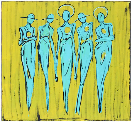 """The Cool People (El Mar Yellow)"" Canvas"
