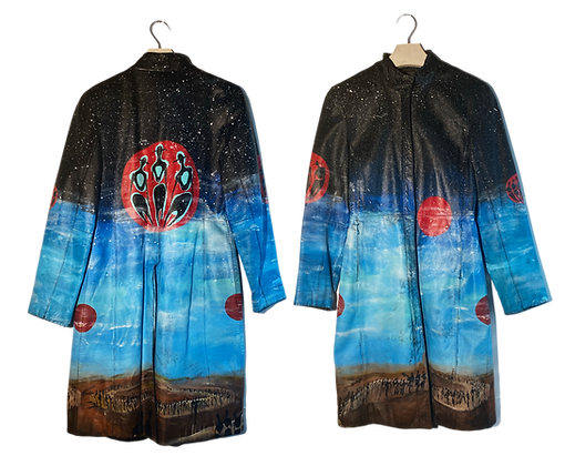 Blood Moon Painted Leather Jacket
