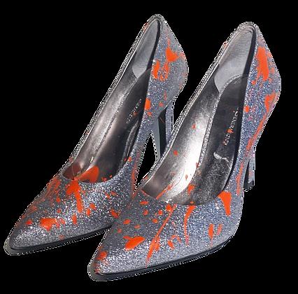 Vermilion Metallic Heels