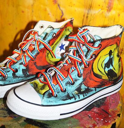 Painted Rainbow Converse