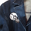 Thumbnail: S/M - The Cool People Painted Denim Long Jacket