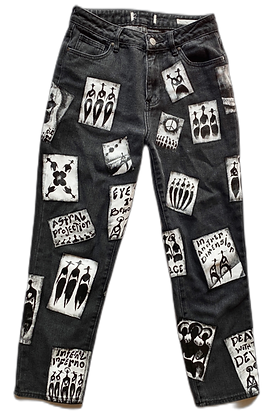 Cool People Painted Patches Jeans