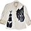 Thumbnail: The Cool People B/W Painted Leather Jacket
