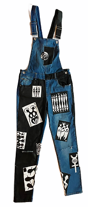 S - The Cool People Playing Cards Denim Overalls II