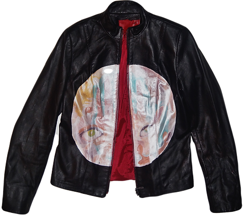 Purgatory Allegory Painted Vintage Leather Jacket