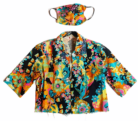 Vintage Psychedelic Trip Top & Mask