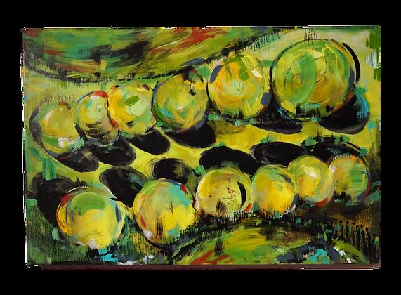 """Chartreuse Conception"" Canvas (20x30)"