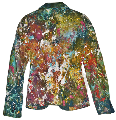 XS - Explosion Palette Painted Cotton/Linen Jacket