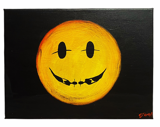 """Cool Smile"" Canvas (9X12)"