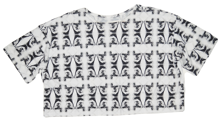 S/M - Two Faced Crop T-Shirt
