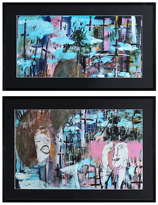 """""""Caked On"""" Diptych Canvas"""