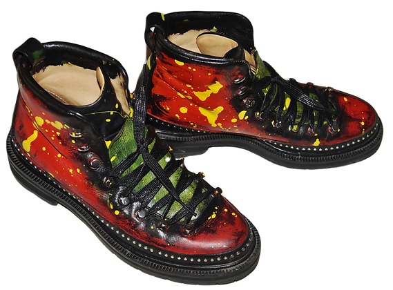 Planet Mars Leather Boots