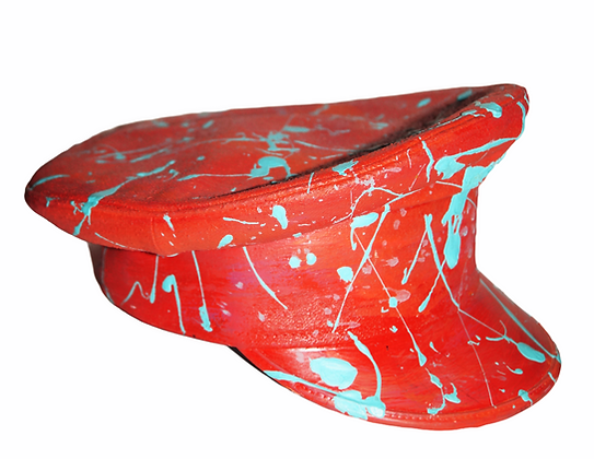Red Pollock Painted Service Cap
