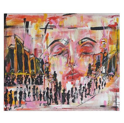 """""""Headphones, On"""" Canvas (34x40)"""