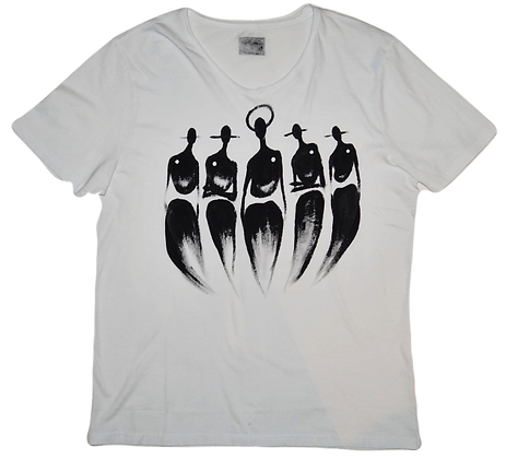 The Cool People (Original Five) Painted Cotton T-Shirt