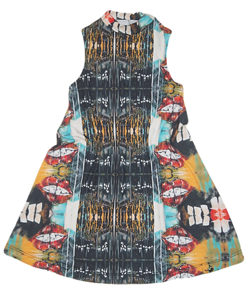 Astral Projection Sleeveless Round Neck Dress