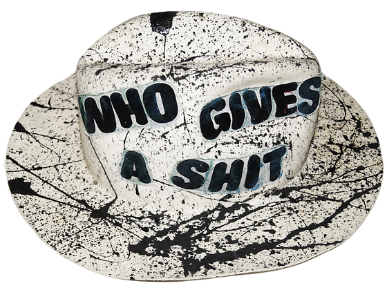 Who Gives A Shit Painted & Patched Artisan Hat