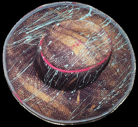 Purple Aura Splat Straw Hat