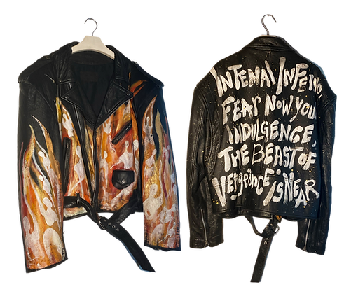 Inferno Painted Vintage Leather Jacket