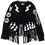 Thumbnail: The Cool People Painted Patched Leather Fringe Jacket (Custom)