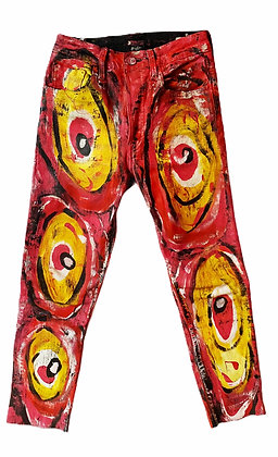 XS/24 - Fusion Synchronicity Painted High Waisted Jeans