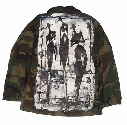 Cool People Card Painted Camo Jacket
