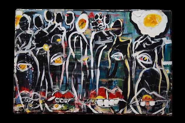 """Split Tightrope"" Canvas (16 x 24)"