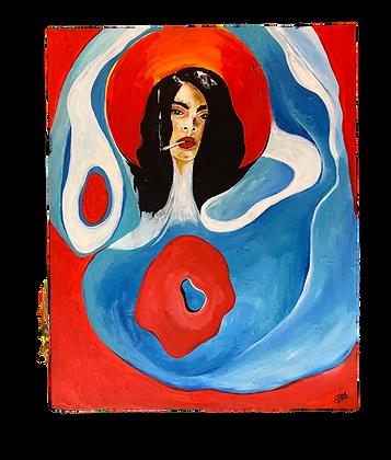 """Swan Lake"" Canvas (24x30)"