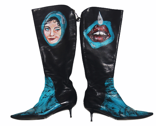 Old Hollwood Punks Kitten Heel Boots