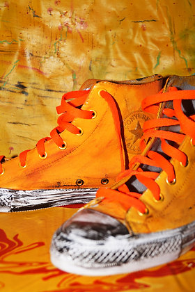 Citrus Zest Painted Converse