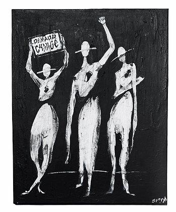 """""""Demand Change"""" Canvas (16X20)"""