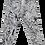 Thumbnail: White/Black Splatter Painted Jeans