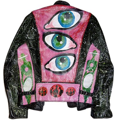 Eyes Of The Beholder Painted Leather Jacket