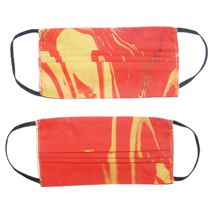 Two Woven Masks (Tequila Sunrise)