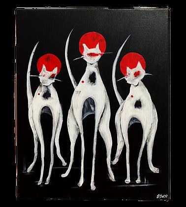 """Cool Cats, Ed. II"" Canvas"