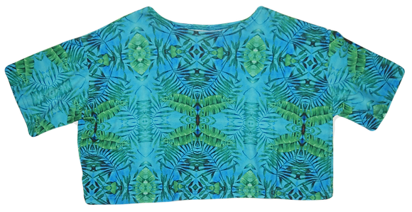 S/M - Tropical Trippy Crop T-Shirt