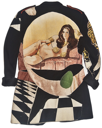 Surrealist Vixen Dada Patched Vintage Jacket