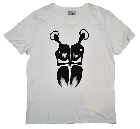 The Cool People (Duality) Painted Cotton T-Shirt