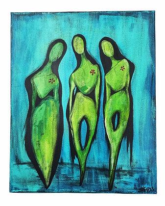 """""""Earth Girls"""" Canvas (16x20)"""