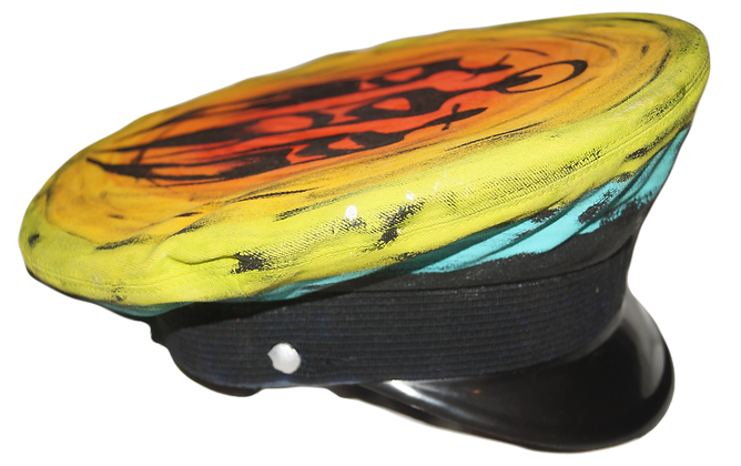 The Cool People Rainbow Painted Military Cap