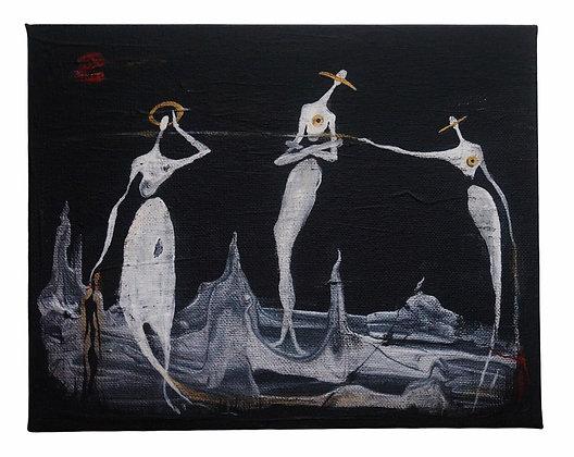"""""""Entranced"""" - Acrylic on Canvas (8x10"""")"""