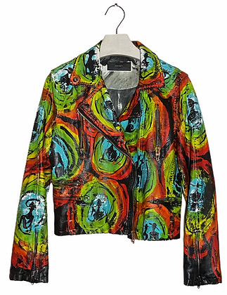 Technicolor Synchronicity Acrylic Painted Jacket