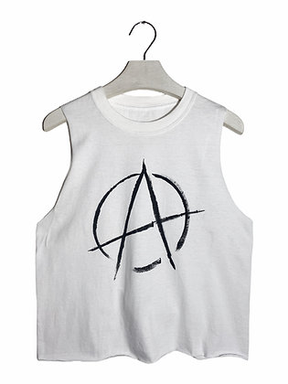 M/L - Anarchy Painted & Cut Tank