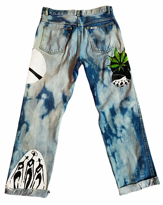 S/26 - Painted Patches 4/20 Boyfriend Jeans