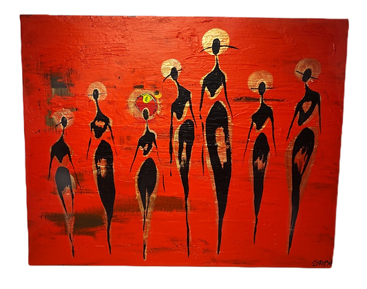 """""""The Cool People (Party Of Seven)"""" Canvas"""